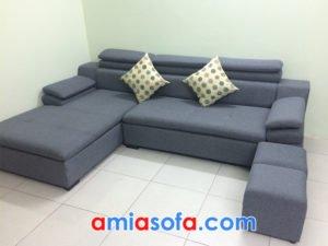 Sofa nỉ dạng góc chữ L đẹp cho phòng khách hiện đại