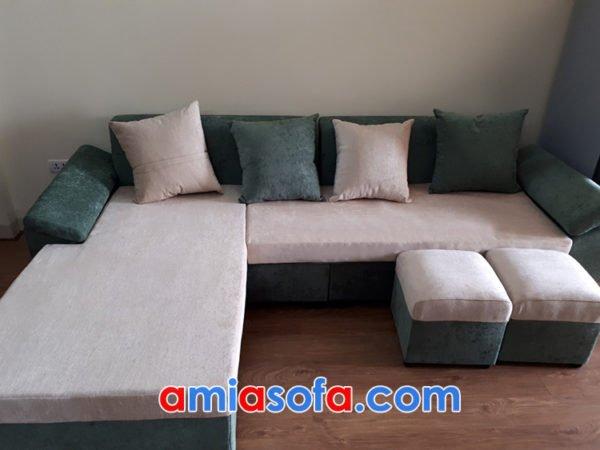 Sofa nỉ góc giá rẻ cho nhà chung cư
