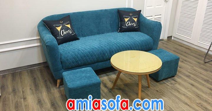 Ghế sofa nỉ thiết kế văng mini nhỏ xinh SFV 155A