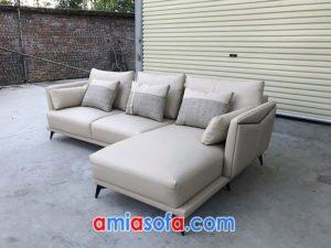 Sofa góc chất da đẹp sang trọng