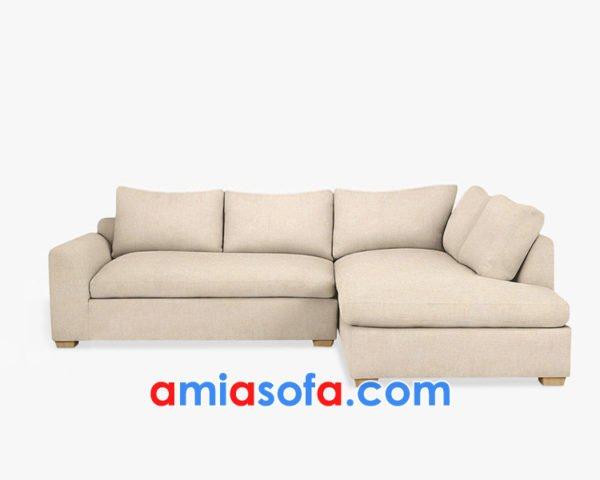 Ghế sofa góc chất nỉ đẹp