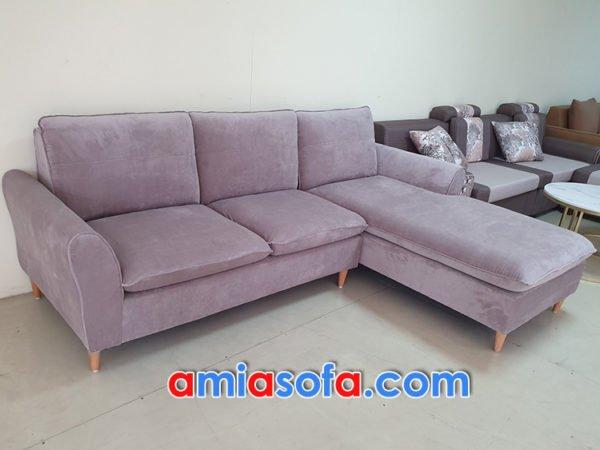 Sofa nỉ góc đẹp hiện đại