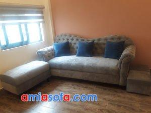 Sofa văng chất liệu nỉ đẹp giá rẻ